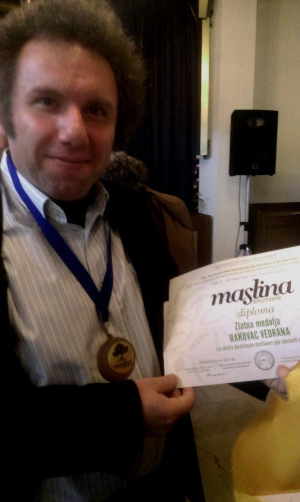 zlatna medalja Maslina 2016.