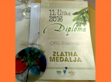 Ulika 2016 OPG Rakovac Zlatna medalja