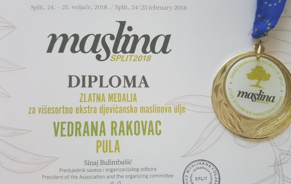 Maslina 2018. – ZLATO ZA BILINI