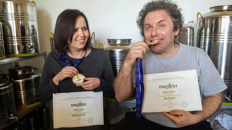 maslina split 2019 - zlatne medalje za Bilini
