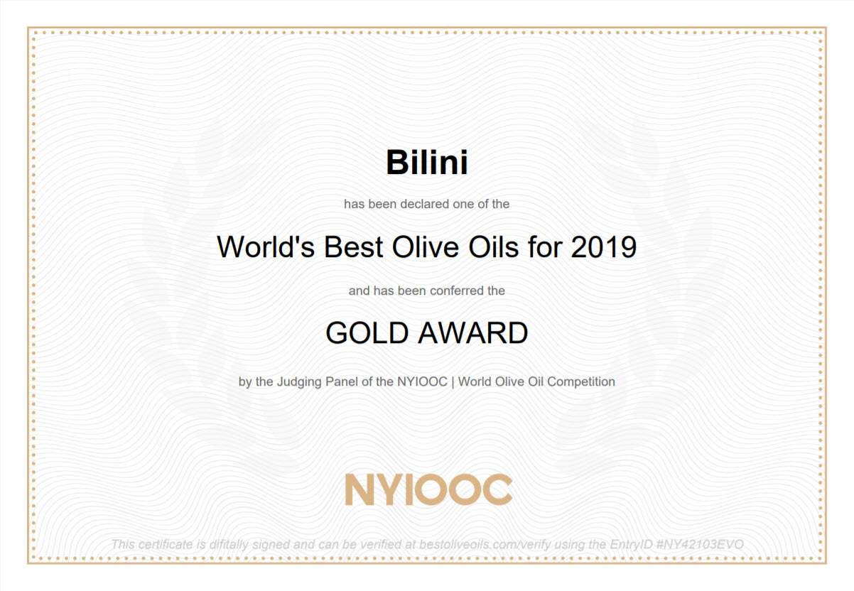 NYIOOC 2019 - Gold Award