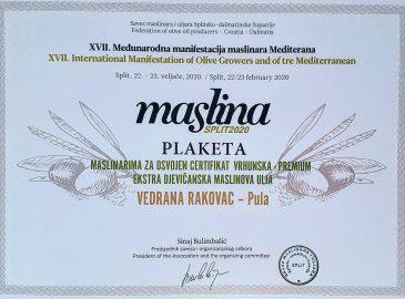 Maslina Split 2020
